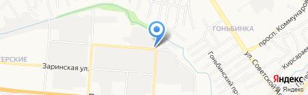Кашалот на карте Барнаула