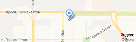 Магазин тканей на карте Барнаула