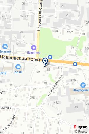 Пергам на карте Барнаула