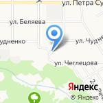 АзСиб на карте Барнаула