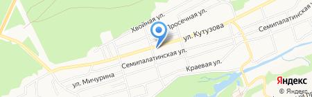 Посейдон на карте Барнаула