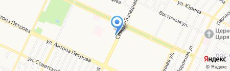 Сеть магазинов хлебобулочных изделий на карте Барнаула