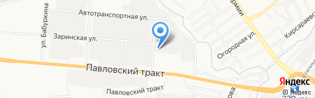 Алттранс на карте Барнаула