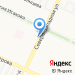 Декоративные культуры на карте Барнаула