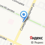 Киоск по продаже колбасных изделий на карте Барнаула