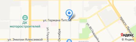 Почтовое отделение №23 на карте Барнаула