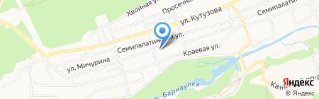 Булыгинские сауны на карте Барнаула