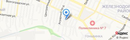 Сервис для Рено на карте Барнаула