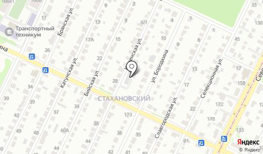 Вариант. Схема проезда в Барнауле