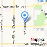 Леди-Стик на карте Барнаула