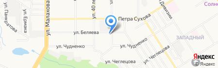 ПЖЭТ №1 Октябрьского района на карте Барнаула