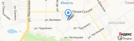 Тимуровский на карте Барнаула