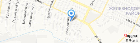 Баринъ на карте Барнаула