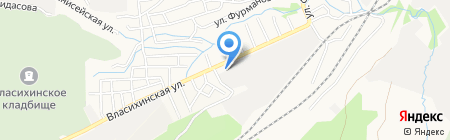 АЗС Олти на карте Барнаула