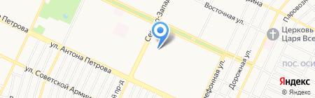Верена на карте Барнаула
