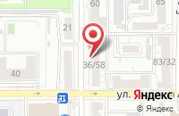 Схема проезда до компании Техник22 в Барнауле