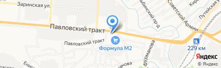 Теплолига на карте Барнаула