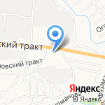 Дальнобойщик на карте Барнаула