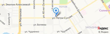 Квартет Плюс на карте Барнаула