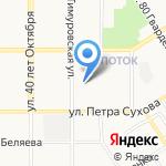 Тимуровские бани на карте Барнаула