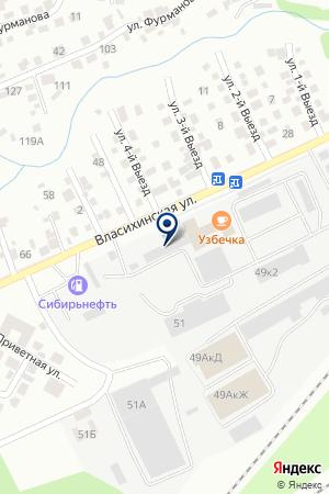 Аква Марина-А на карте Барнаула