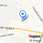 Обские просторы на карте Барнаула