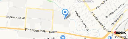Нимфа на карте Барнаула