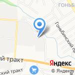 Атава на карте Барнаула