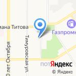 Бакон на карте Барнаула