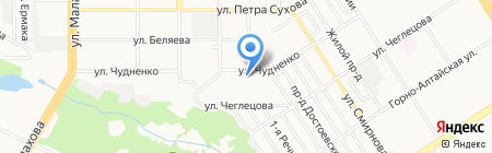 Детский сад №75 на карте Барнаула