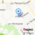 Детский сад №75 компенсирующего вида на карте Барнаула