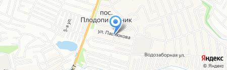 Логист на карте Барнаула