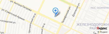 Алтай-Клининг на карте Барнаула