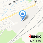 Клён на карте Барнаула