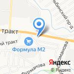 Иномаркет на карте Барнаула