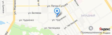 Ярмарка одежды на карте Барнаула