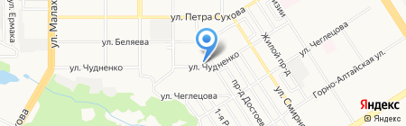 Шер на карте Барнаула