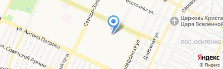 Единоборец на карте Барнаула