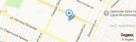 Рассвет на карте Барнаула