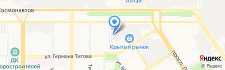 Биг на карте Барнаула