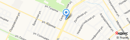 Энки на карте Барнаула