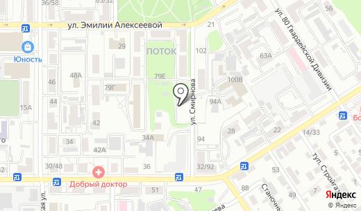Акант. Схема проезда в Барнауле