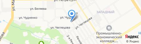 Новоселы 12 на карте Барнаула