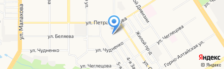 Уголок на карте Барнаула