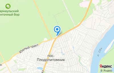 Местоположение на карте пункта техосмотра по адресу г Барнаул, тракт Змеиногорский, д 118Б