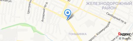 Алёна на карте Барнаула