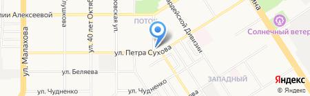 Почтовое отделение №10 на карте Барнаула