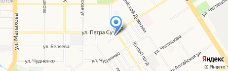Максимум на карте Барнаула