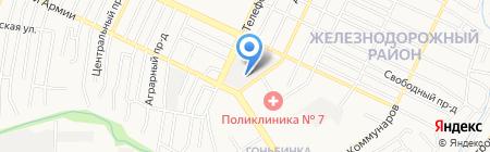 Астра-Эа на карте Барнаула