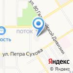 Альтернативное решение+ на карте Барнаула
